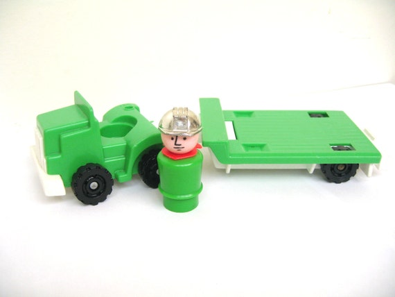 Vintage Fisher Price Green Rig