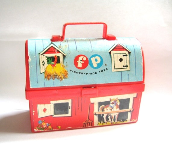 Vintage Fisher Price Farm Lunch Box