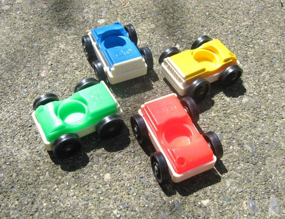 Vintage Fisher Price Garage Cars