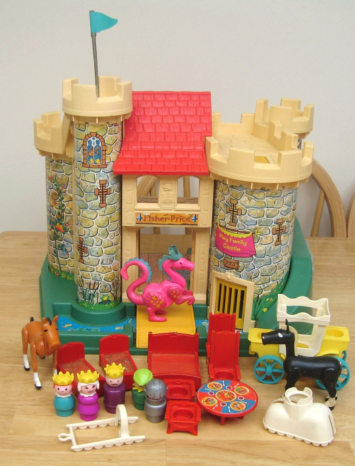 vintage fisher price castle set. Black Bedroom Furniture Sets. Home Design Ideas