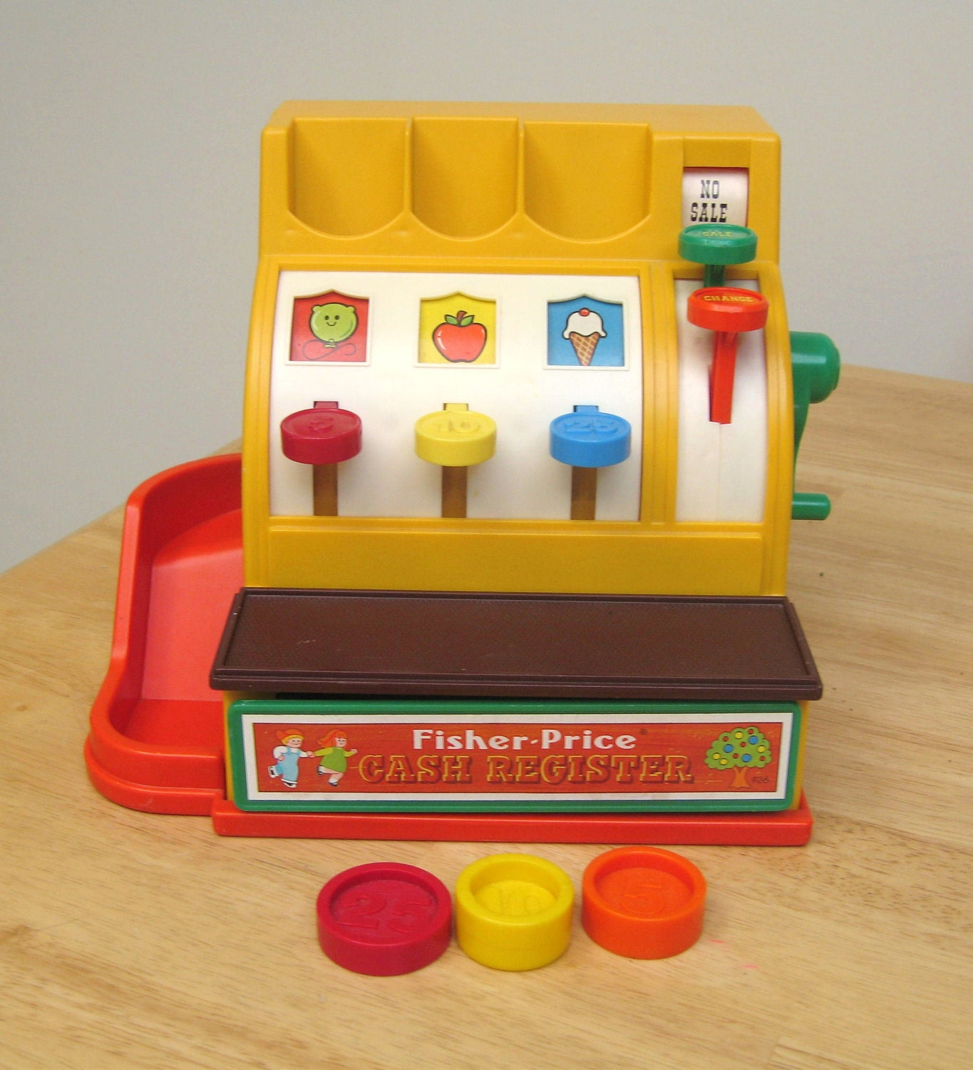 reserved vintage fisher price cash register 3. Black Bedroom Furniture Sets. Home Design Ideas