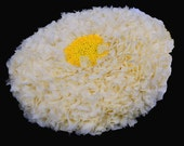 Touch Of Luxury In Small Amounts Taken Daily Is Beauty Nectarine pale yellow cushion size 34cm