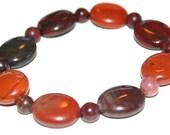 Crimson Agate bracelet 7 1/2 inches long