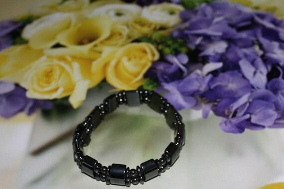 Mens Hematite magnetic bracelet 9 to 10 inch wrist