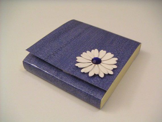 Post-It Notes Pad - Blue with White Flower - ON SALE