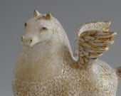 Reserved for Ursula  - White Pegasus -   sculpture