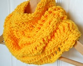 Yellow Infinity Scarf, Cotton Cowl FREE SHIPPING in Canary Yellow