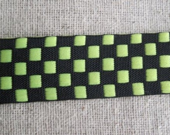 YELLOW and BLACK Checkered ribbon