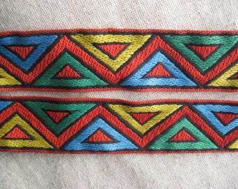 Zig Zag triangles jacquard woven ribbon