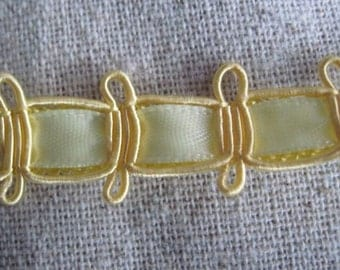 BUTTERCREAM yellow Embellished Ribbon trim