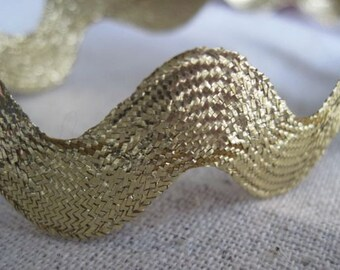 GOLD metallic rick rack