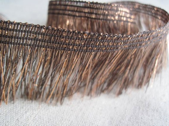 COPPER and CHOCOLATE sparkle soft fringe