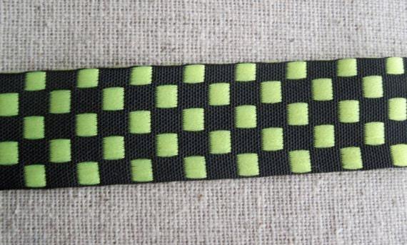 YELLOW and BLACK Checkered ribbon