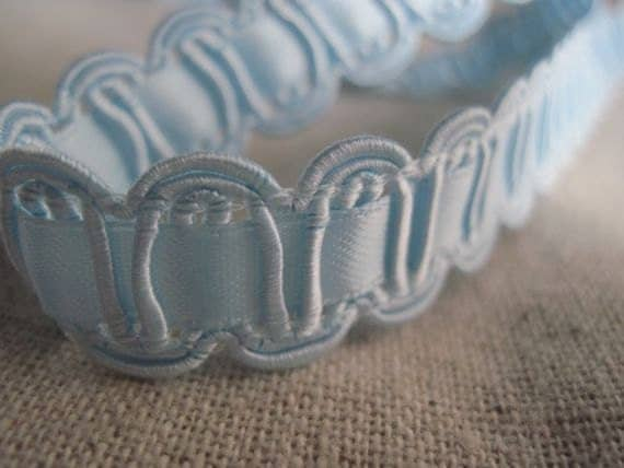 BABY BLUE Embellished Ribbon trim