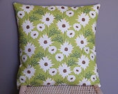 On Sale Only Until May 10th Two 16 x 16 Inch Daisy Path Clery Meadowsweet Throw Pillow Covers
