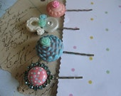 CuPcAkE tOpS...vintage assemblage  bobby pin clip collection