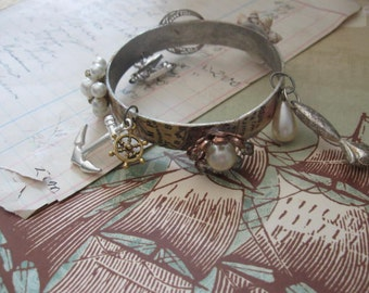 A pirates life for me...vintage assemblage bracelet