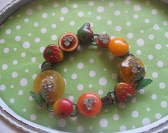 Harvest.vintage assemblage bracelet