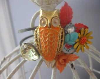 The Autumn Bird vintage assemblage bracelet