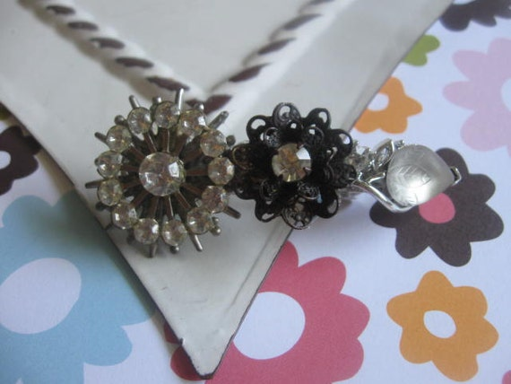 All the Sparkle.vintage assemblage old ooak rhinestone barrette clip