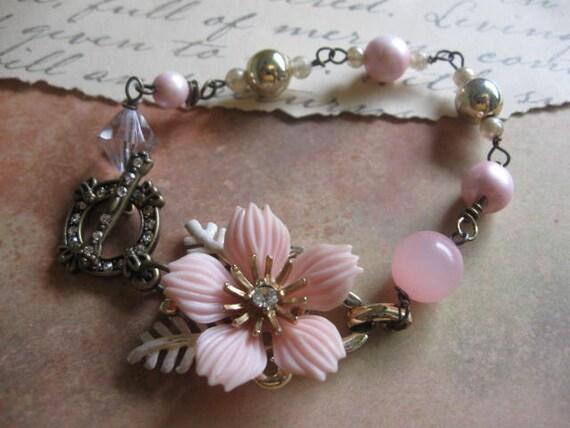 A Christmas FaRiYtAlE Collection no.1 vintage old ooak assemblage bracelet