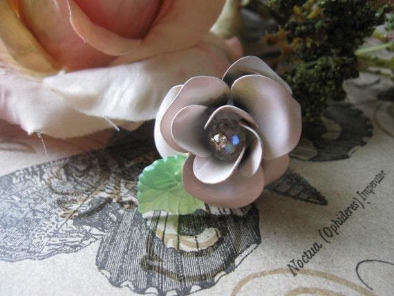 The Ivory Rose.vintage assemblage adjustable statement ring