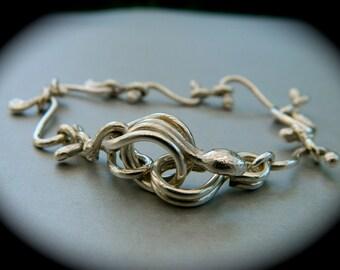 Sterling silver S link bracelet