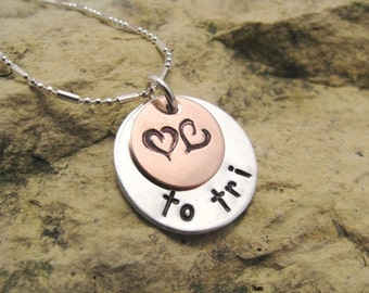 Love to... tri - triathlon pendant