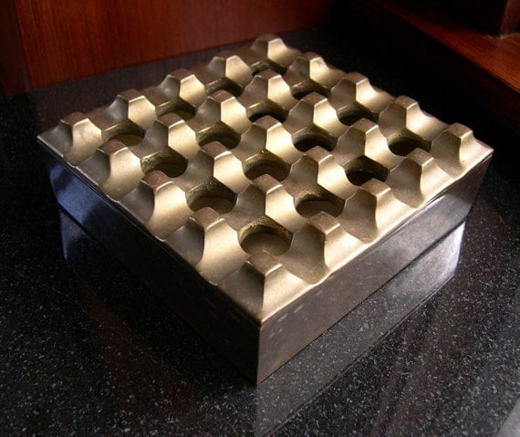 Vintage Modern Brass Box