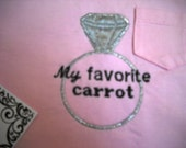 SALE My favorite carrot diamond sparkle shirt machine appliqued size 2t