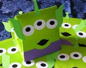 Space Alien Treat Sacks - Toy Story Woody Buzz Lightyear Theme Birthday Party Goody Bags by jettabees on Etsy
