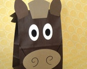 Horse Treat Sacks - Farm Barnyard Country Pony Western Cowboy Theme Birthday Party Favor Bags by jettabees on Etsy