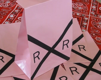 Pink Railroad Sign Birthday Party Favor Sacks Train Theme Valentines Goody Bags by jettabees on Etsy