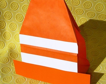 Traffic Cone Birthday Party Favor Treat Sacks Construction Road Cars Trucks Theme Goody Bags by jettabees on Etsy