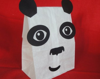 Panda Birthday Party Treat Sacks Jungle Kung Fu Asian Zoo Theme Goody Favor Bags by jettabees on Etsy