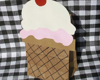 Ice Cream Parlor Theme Treat Sacks Birthday Party Favor Bags by jettabees on Etsy