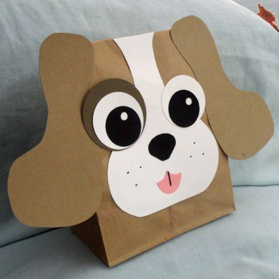 Puppy Treat Sacks - Dog Farm Pet Theme Birthday Party Favor Bags by jettabees on Etsy