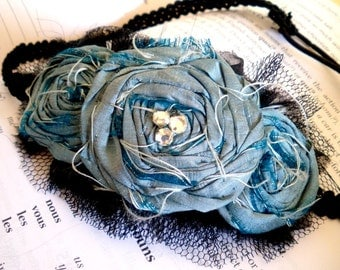 Pdf tutorial  for making a vintage-style rosette trio head band