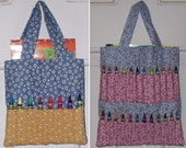 PDF Patterns - Crayon Tote Bags - 2 sizes included - small and large