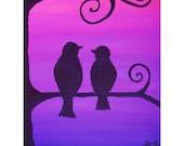 Original Acrylic Painting - Lovebirds