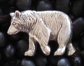 Bear Pewter Button