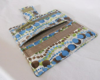 Wallet Sale, Handmade Clutch Wallet, Womens Bifold Wallet,  Blue, Brown, Green, Wallet Sale