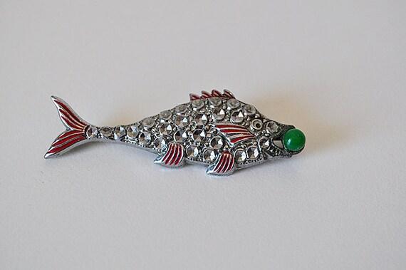 Vintage 1930s Fish Brooch Pin