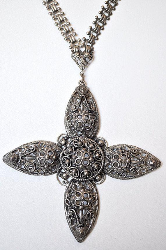 Antique Edwardian Cross Necklace