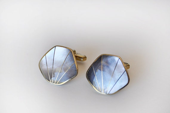 Beautiful Mother of Pearl Shell Cufflinks