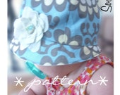 PDF pattern for a mod baby girl hat - sewing pattern