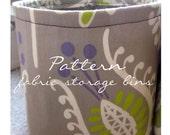Storage bin sewing pattern - PDF format