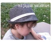 Sewing pattern  -Fedora -  The Jayden Hat
