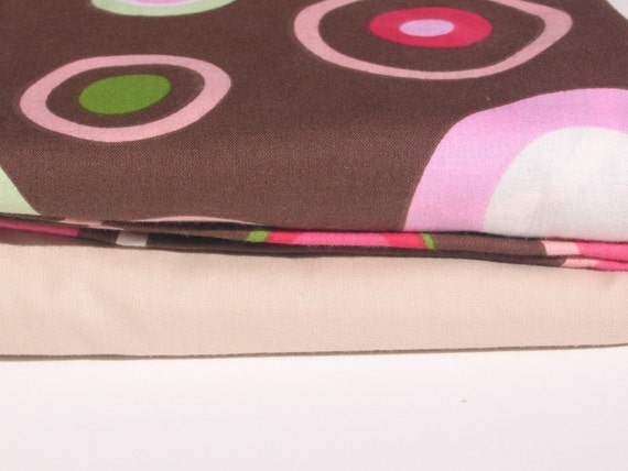 SALE - Fitted Crib Sheets (set of 2) - Watermelon Dot and Tan