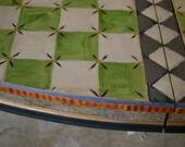 Reserved RESERVED RESERVED Hand painted Green Check Dining Table